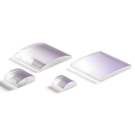 SCX-UV: Laser Quality Fused Silica Square Plano-Convex Cylindrical Lenses